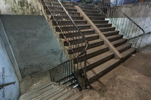Leinwanddruck Bild Abandoned stairs
