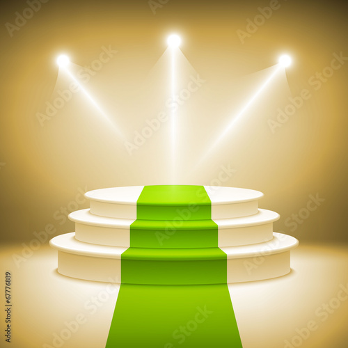 Illuminated stage podium for award ceremony vector - 67776889