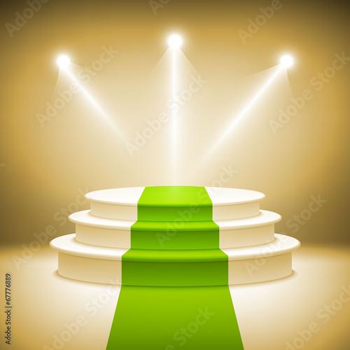 Illuminated stage podium for award ceremony vector - 67776889
