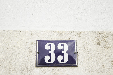Number thirty three home