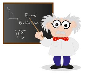 scienziato alla lavagna