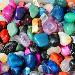 Colorful gemstones in Romania