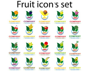 Fruit icon 's set type 1