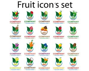 Fruit icon 's set type 2