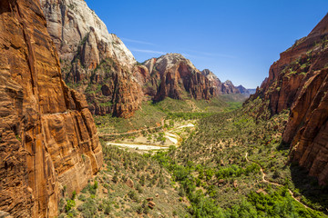 Beautiful aerial views from Zion National Park.