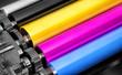 Leinwanddruck Bild - printing machine