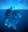 canvas print picture - iceberg