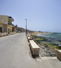 Italy, Sicily, Donnalucata, view of the seafront