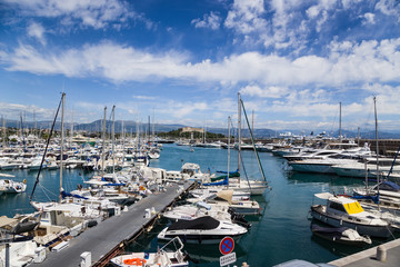 Antibes, France. Port Vauban and yachts