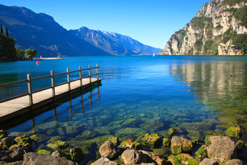 Lago di Garda - beautiful lake in north Italy.