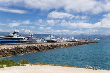 Antibes, France. Yachts in Port Vauban -12