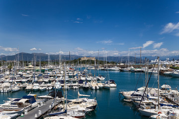 Antibes, France. Yachts in Port Vauban