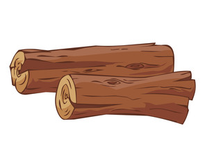 timber isolated illustration