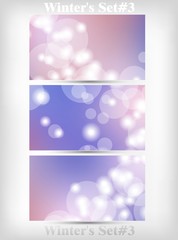 Winter's Set Of Soft Bokeh Background Vector Illustration part 3