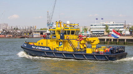 Dutch port authority ship in Rotterdam
