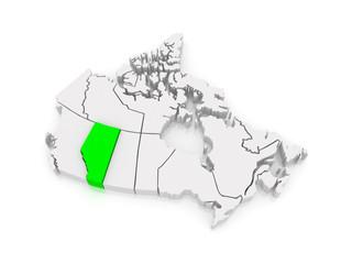 Map of Alberta. Canada.