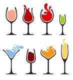 set of wine glass