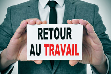retour au travail, back to work in french