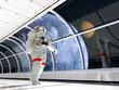 Astronaut in the corridor - 67780475