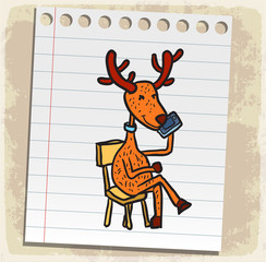 cartoon reindeer illustration
