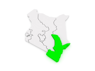 Map of Seaside. Kenya.