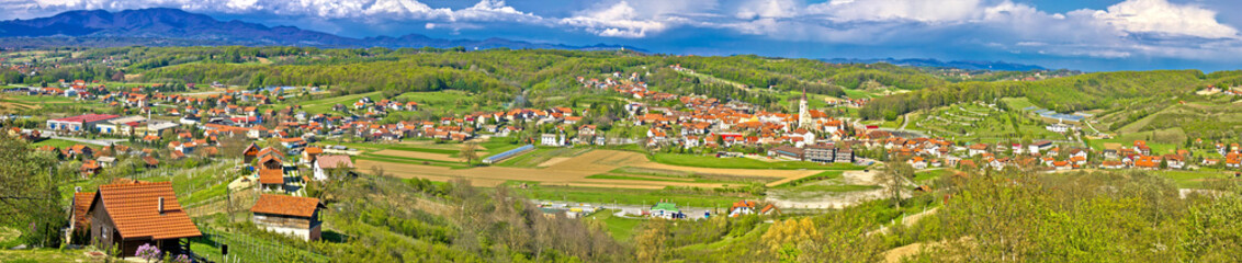 Zagorje green hills mega panorama