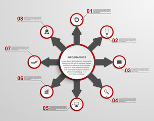 Abstract infographic with arrows. Design element.