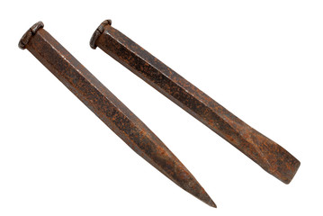 Old rusty chisel