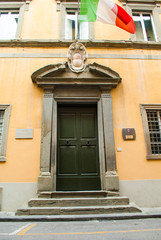 Palazzo dei Consoli del Mare , facciata con portale, Pisa