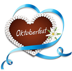 Oktoberfest - Lebkuchenherz mit Herzbanderole