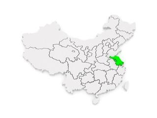 Map of Jiangsu. China.