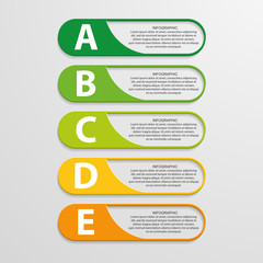 Colorful infographic design on the grey background.