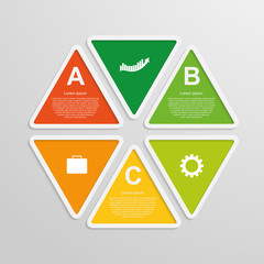 Modern infographics business triangle. Vector illustration.