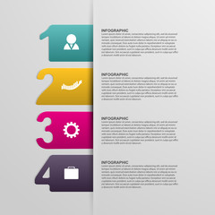Creative colorful numbered infographic.