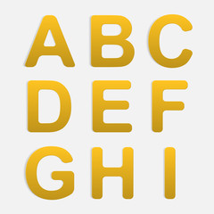 Vector Alphabet Set.