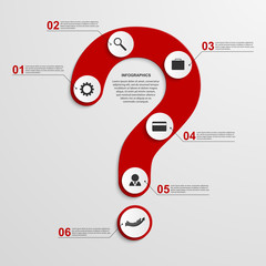 Abstract infographic in the form of question mark.