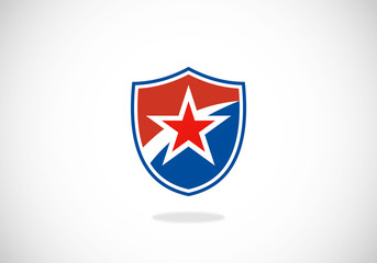 shield and star vector logo