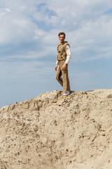 Standing in a desert