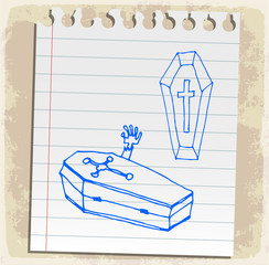 halloween cartoon coffin