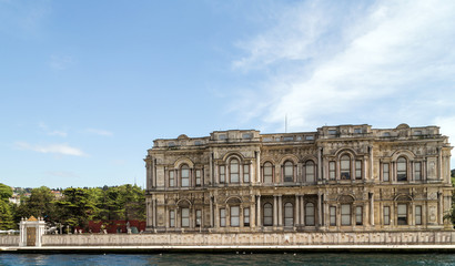 palace on Bosphorus in Istanbul Turkey