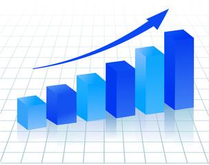 blue growing diagram
