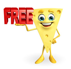 Cheese Character with free text sign