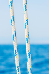 Ropes closeup on sailing