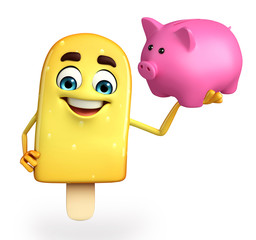 Candy Character With piggy bank