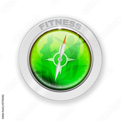 canvas print picture Fitness Compass