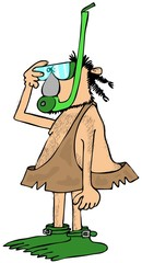 Caveman snorkeler