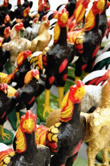 Rooster statues