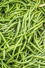 Green or snap beans on display