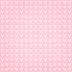 Hearts on pink background - retro seamless pattern
