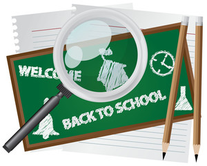 Abstract Back to School Background